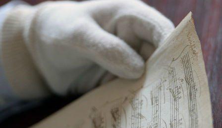 Mozart manuscript Piano Sonata Hungarian Library Cover