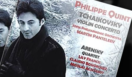 Philippe Quint Tchaikovsky Violin Concerto CD Giveaway Cover
