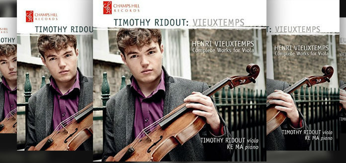 Timothy Ridout Viola CD Cover